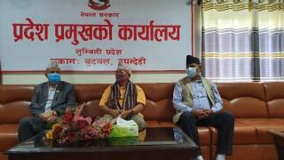 लुम्बिनी प्रदेश : तीनदिन पछि थाहा पाए मुख्यमन्त्रीले नयाँ प्रदेश प्रमुख आएको